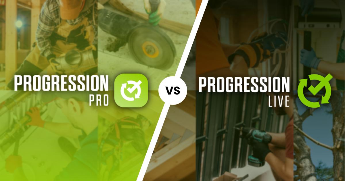Comparez ProgressionPRO et ProgressionLIVE